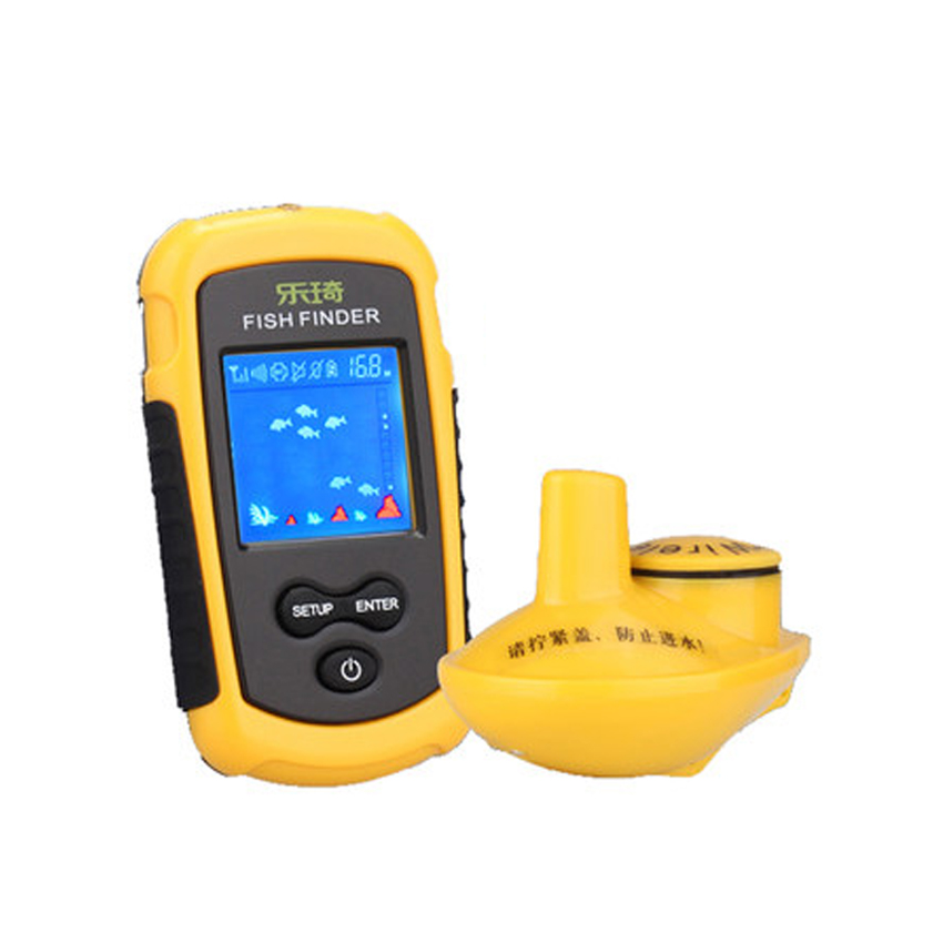 Lucky FF-1108 Portable Wireless WiFi Fish Finder 40m Depth Sonar Sounder Alarm Transducer Fishfinder with Colorful Display(China (Mainland))
