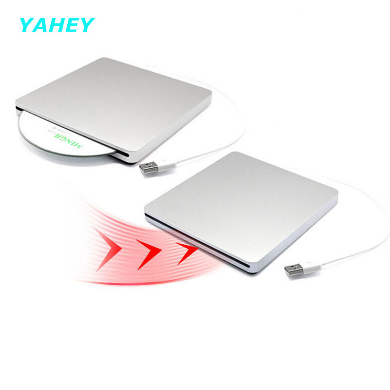 [Ship from Local Warehouse]USB 2.0 Optical Drive Slot Load External DVD RW Burner CD ROM Player Writer for Apple Macbook Laptop(China (Mainland))