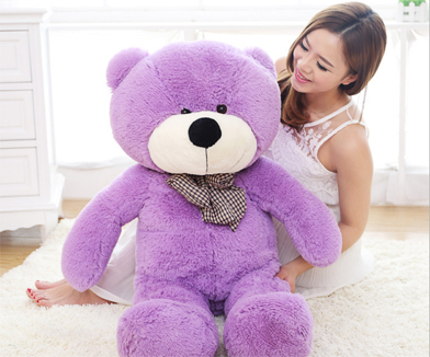 [100cm 5 Colors] Giant Teddy Bear Plush Dolls Toys Big Teddy Bear Stuffed Toy Lowest Price Birthday Gift ID0011(China (Mainland))