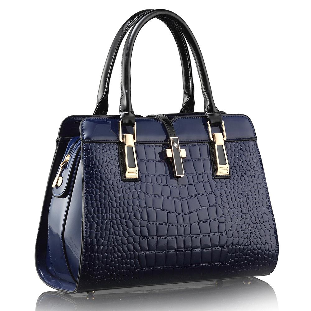 hot 2015 Black Crocodile tote bag women NEW fashion PATENT Crossbody Bag CLASSIC handbag bolsas feminina desigual women bag(China (Mainland))