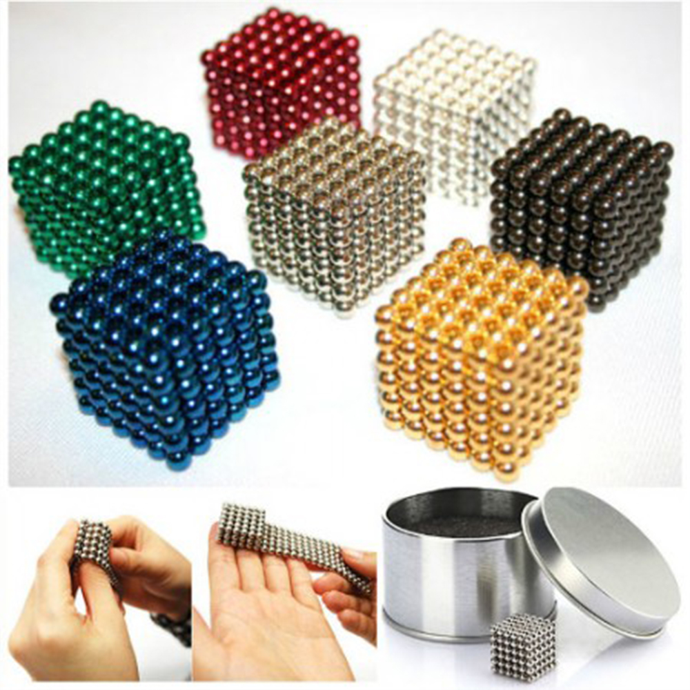 5mm Colorful 216 pcs Neodymium Bucky balls Neo Cube Magic Cube Puzzle Magnetic Magnet Balls Spacer Spheres Beads + Gift Box(China (Mainland))
