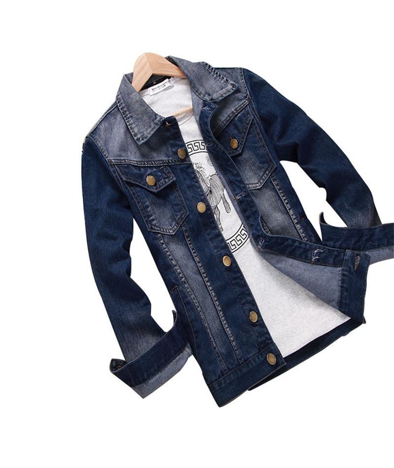 2015 Autumn Retro Style Mens Denim Jacket Vintage Dark Blue Acid Washed Long Sleeve Jeans Jacket For Male AY987Одежда и ак�е��уары<br><br><br>Aliexpress