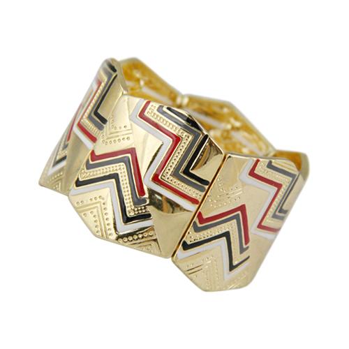 Vintage New Women Gold Plated Colorful Enameling Hinge Bangle Statement Bijoux for Men(China (Mainland))