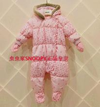 New 2014 winter next baby clothing newborn girls princess warm fleece rompers children thick outerwear clothes kids padded coat(China (Mainland))