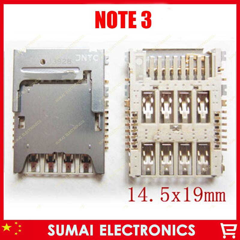 200pcs/lot Original New single SIM card reader connector holder for Samsung note3 i9200 SIM Card Tray Sockect Module