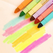 South Korea stationery creative lovely solid fluorescence pen Solid jelly pen crude oil marker markers(China (Mainland))