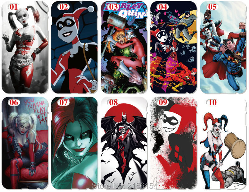 Wholesale Harley Quinn Plastic Hard Cell Phone Cover For iphone 4 4S 5 5S SE 5C 6 6S Plus For iPod Touch 4 5 6 Mobile phone Case(China (Mainland))