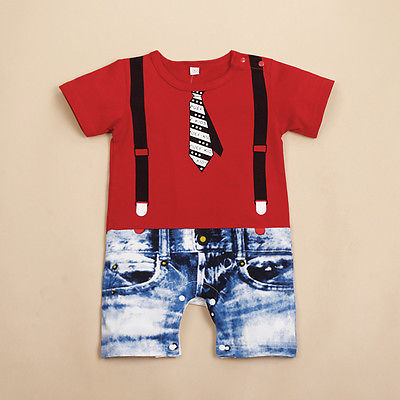 Baby Boys Kids Newborn Infant Overalls Romper Shorts Bodysuit Outfit Clothing US<br><br>Aliexpress