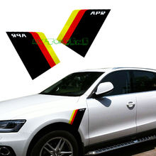 Buy 2x APR Fender Side Germany Flag Vinyl Decal Stickers VW BMW AUDI, etc (L&R) for $13.79 in AliExpress store
