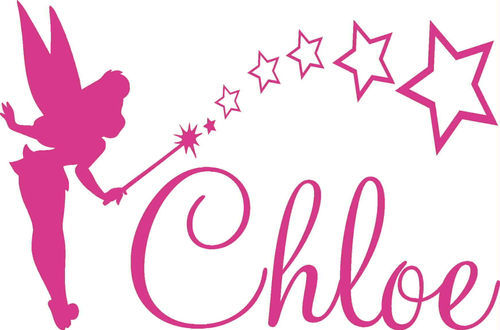Family Stickers Tinkerbell Any Custom name girls wall sticker Decal decor(China (Mainland))