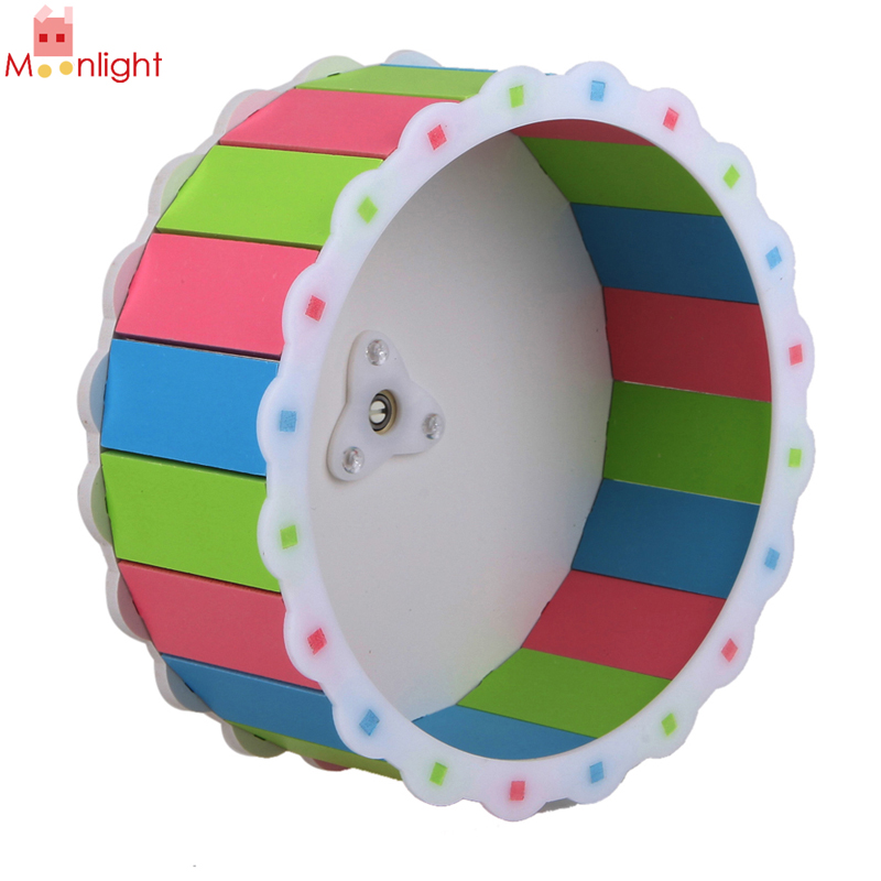 Wood Plastic Plat Hamster Exercise Toy Mouse Rat Mice Cage Accessories Sports Running Spinner Wheel Pet Hamster Toys(China (Mainland))
