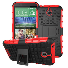 Hybrid Armor Cover Kick-stand Hard Plastic Case for HTC Desire 510 D510
