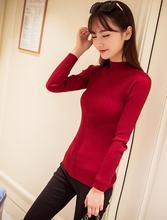 New 2016 Spring Fashion Women sweater high elastic Solid Turtleneck sweater women slim sexy tight Bottoming Knitted Pullovers(China (Mainland))