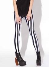 Hipster Drop ship S-4XL 2015 Women Black and white stripes Leggings MIlk Leggings Galaxy leggings Plus Size girl Leggings(China (Mainland))