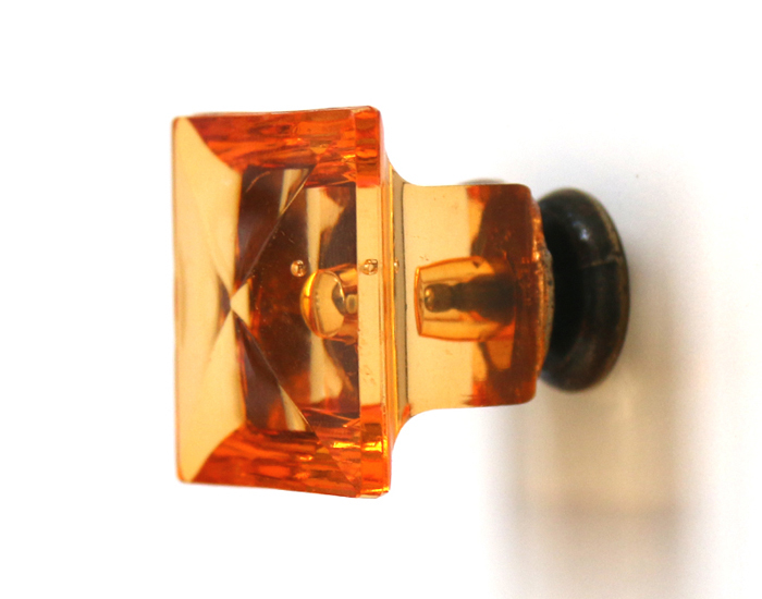10pcs/lot Amber Pull Handle Acrylic Door Knob Drawer Cabinet Cupboard Hardware 27mm