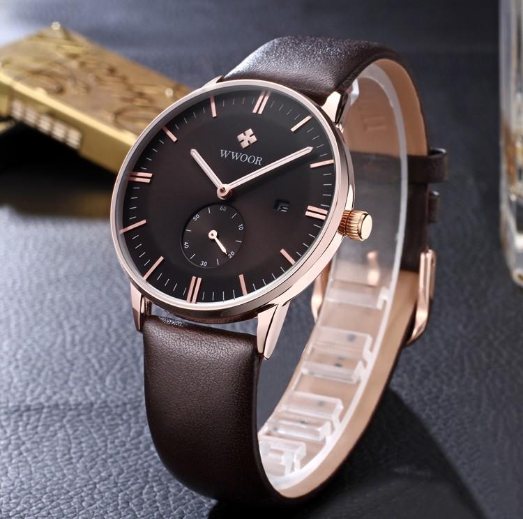 NAVIFORCE Fashion Men Sports Watches Men's Quartz Watch Man relogio masculino Leather Strap Military Army Waterproof Wristwatch