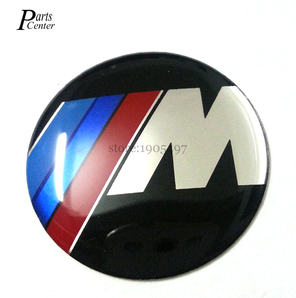 For BMW X3 X5 F10 E38 E39 E46 E90 M Power logo Motorsport Emblem 45mm Car Steering Wheel Badge Emblem Sticker Emblems(China (Mainland))
