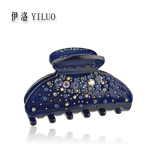 Women Hair Accessories 2016 New Fashion Rhinestone Hair Clip Acetate Crystal Hair Claw For Thin Hair 6.5cm Long(China (Mainland))