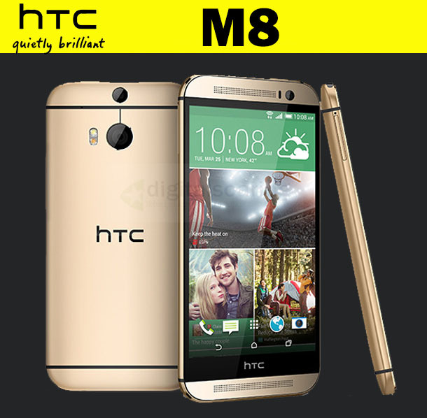 """HTC One m8 Unlocked Original HTC ONE M8 Quad-Core 3G Cell phone 16GB 32GB ROM 5.0"""" 1920x1080p Dual 4MP Camera Android mobile(China (Mainland))"""