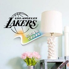 DIY vinyl NBA Los Angeles lakers badge logo basketball decoral wall stickers for boys room decoration