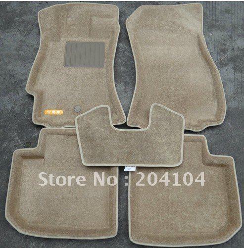 wholesale high quality 2010-2012 SUBARU XV waterproof 3D suede car mats car carpet 3color(China (Mainland))