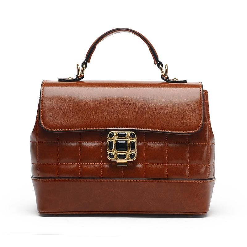 2015 fashion women vintage handbag genuine leather bag oil wax tote shoulder bag hot crossbody bag women messenger bag682<br><br>Aliexpress