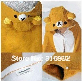 K1 Free shipping, Cute Rilakkuma Plush Cloak, good quality and soft plush blanket, 1pc