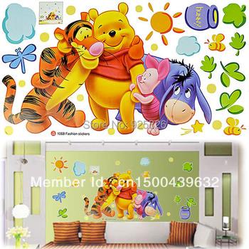 Good Quality DIY Fashion Cheap Cartoon Animal PVC Wall Sticker Home Decal Wallpaper Room Decor House Sticker #005 6351