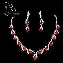 2016 Fashion Rhinestone Women Jewelry Sets Necklaces Earrings Wedding Bride Party Rhinestone Bridal Jewelry Sets Jewellery(China (Mainland))
