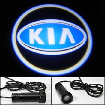 Auto Ghost Shadow Light Car LED door lights for KIA K2 K5 CEED FORTE LOGO Decoration door prejection welcome light HK post Free