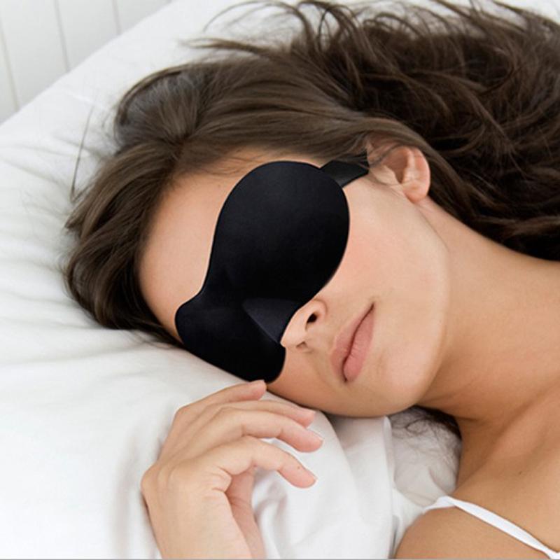 Travel Rest 3D Sponge Eye MASK Black Sleeping Eye Mask Cover For Health Care To Shield The Light Gift(China (Mainland))