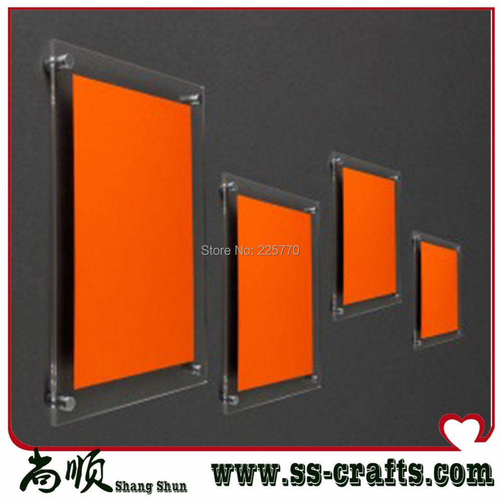 Acrylic Display Frame Wall Mounted Acrylic Photo Frame