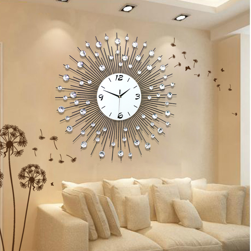 Home decoration wall clock modern living room wall clocks for Living room wall clocks