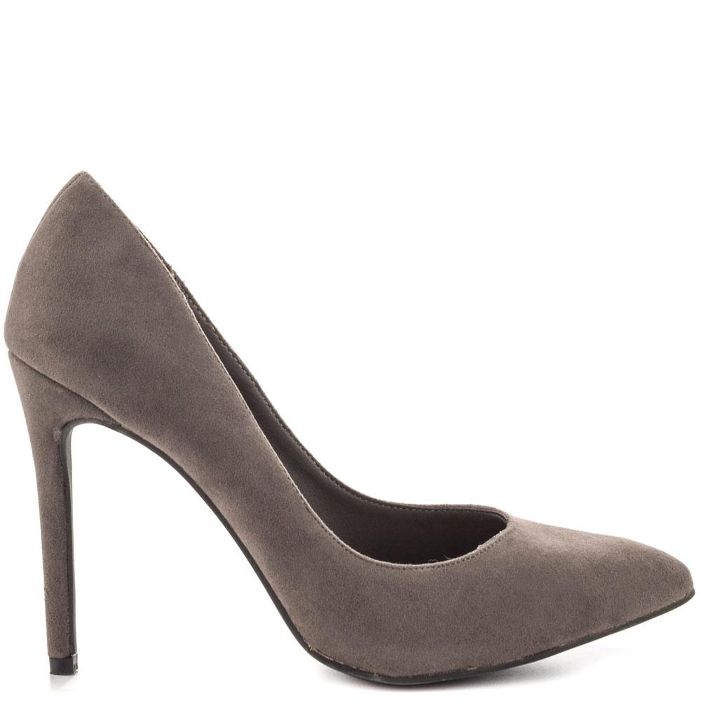Grey Silver Heels