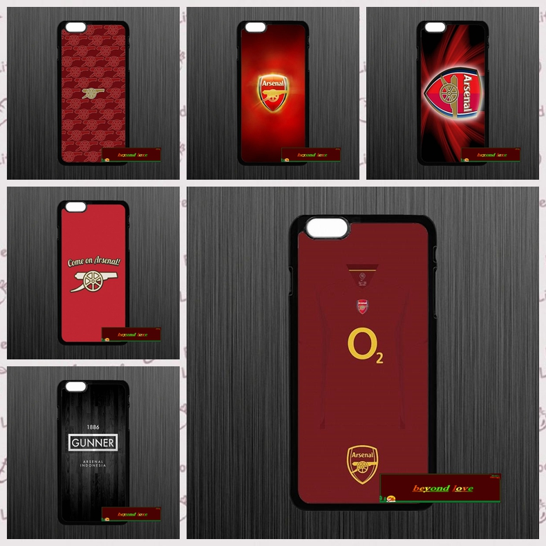 Gunners Arsenal FC Club Logo Phone Cases Cover iPhone 4 4S 5 5S 5C SE 6 6S 7 Plus 4.7 5.5 UJ0407