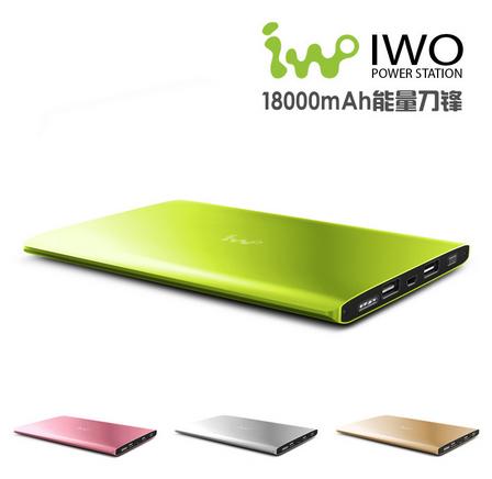 Original IWO P48 18000mAh Power Bank Ultrathin External Battery Powerbank Bateria Externa Charger Pover Bank For Xiaomi/iPhone