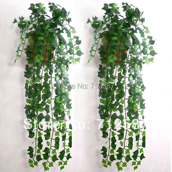 Artificial Ivy Leaf Garland Plants Vine Fake Foliage Flowers Home decor 7.5 feet(China (Mainland))