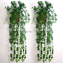 Artificial hoja de hiedra Garland plantas Vine Fake follaje flores decoración 7.5 pies(China (Mainland))