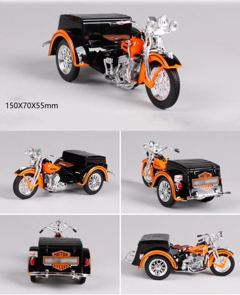 HD 1947 SERVI-CAR motorcycle model 1:18 scale Alloy metal diecast models motor bike miniature race Toy For Gift Collection