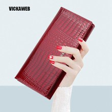 Buy Women Wallets Genuine Leather Wallet Female Purse Long Coin Purses Holders Ladies Wallet Hasp Fashion Womens Wallets Purses for $14.80 in AliExpress store