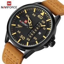 Top Luxury Brand NAVIFORCE Men Sports Watches Men's Quartz Date Clock Man Leather Army Military Wrist Watch Relogio Masculino(China (Mainland))