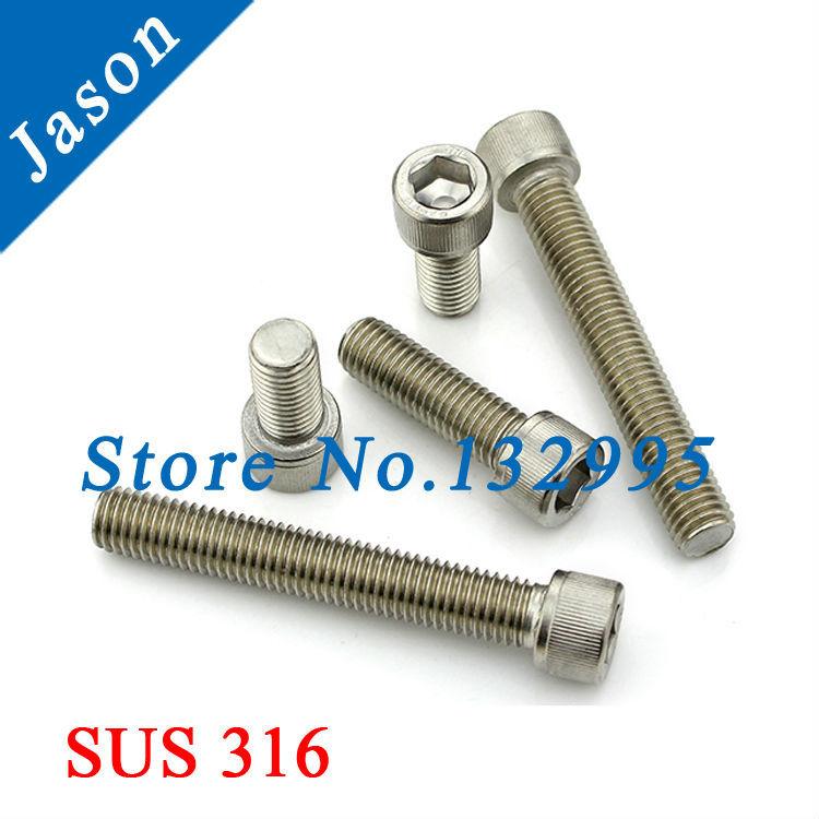 M5*25   DIN912  Stainless Steel A4 Hex Socket Head Cap Screw  SUS 316 DIN912 M5*L<br><br>Aliexpress