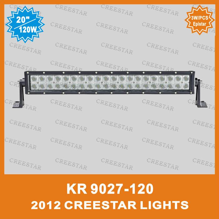 120W 4x4 led driving light bar for excavator, dozer, road roller, bulldozer, crane and mining truck KR9027-120(China (Mainland))
