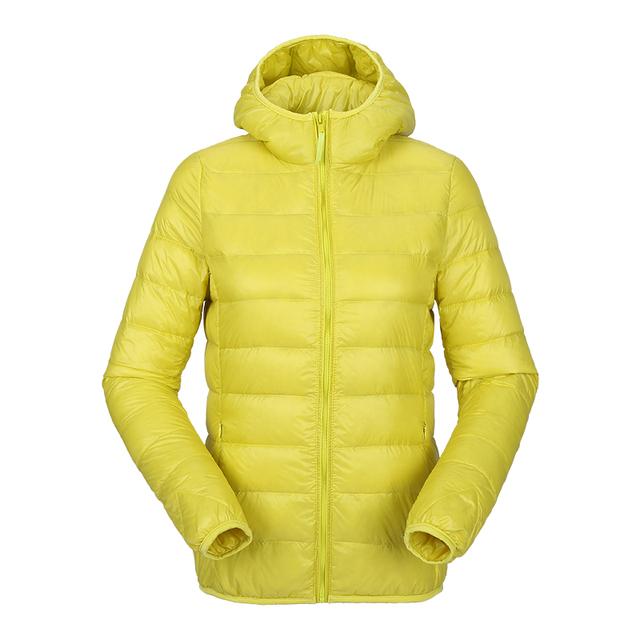 Женщины ultra light down jacket Закрытый winter duck down jackets Женщины slim Длинный ...
