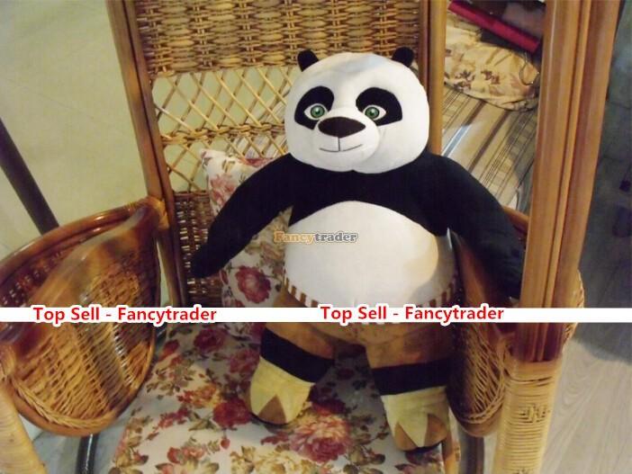 Fancytrader Lovely Panda Toy Super COOL!! High Quality 29'' 75cm Giant Plush Stuffed Kung Fu Panda Gift, Free Shipping FT90200(China (Mainland))