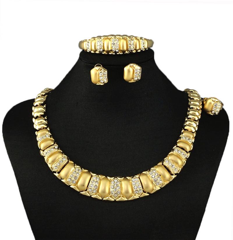 african jewelry sets18k gold fine jewelry sets big jewelry sets wedding jewelry sets FASHION NECKLACE(China (Mainland))