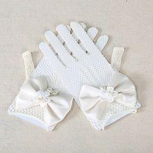 Bow Knot Princess Gloves For Children Mesh Gloves 2016 Fashion Accessories For Kids Newborns Princess Costumes Children Clothes