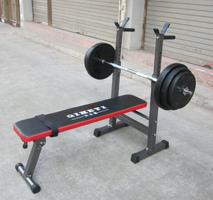 Weightlifting bed set multifunctional weight lifting bed barbell bed bench stand 50kg bell Bench and weight set