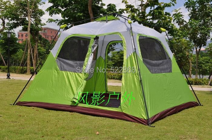 Large space 6 person 300*270*210CM one room instant set-up high quality camping tent \outdoor tent<br><br>Aliexpress