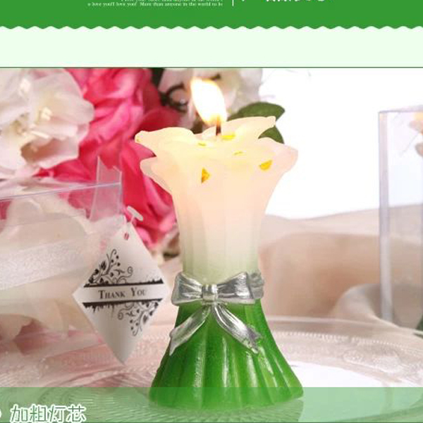 wedding Christmas gift Calla Lily shape blossom candles in the exquisite packaging baby birthday flower gift candles(China (Mainland))